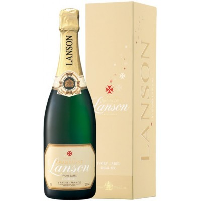 Lanson Ivory Label Demi-Sec gift box