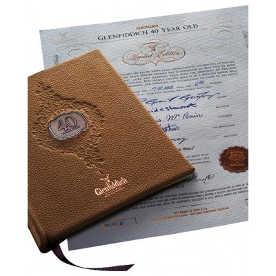Glenfiddich, 40 Years Old, gift box