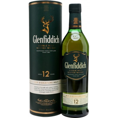 Glenfiddich, 12 Years Old, in tube