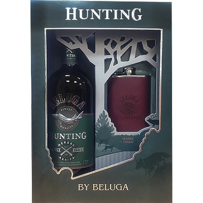 Beluga, Hunting, Herbal Bitter, gift box with flask