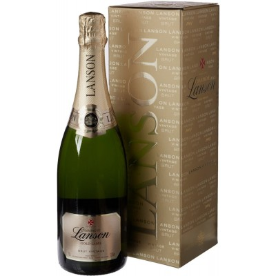 Lanson, Gold Label, Brut, Vintage 2009, gift box