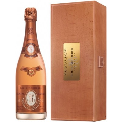 Louis Roederer, Cristal, Rose, 2012, wooden box