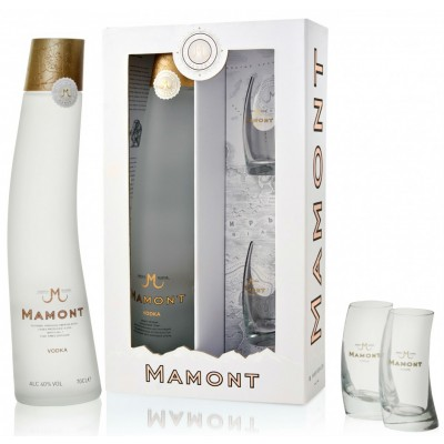 Mamont, gift box with 2 glasses