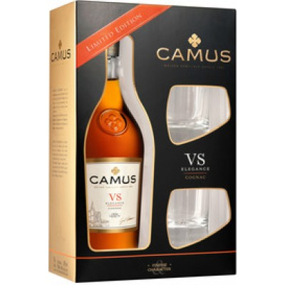 Camus, VS Elegance, gift box with 2 glasses